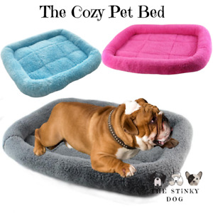 Dog Beds XS XL Large Small Medium Cat Pet Calming Warm Comfy Plush Fluffy Mat UK