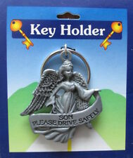 SON PLEASE DRIVE SAFELY GUARDIAN ANGEL PEWTER KEYRING OTHER ONES ARE LISTED