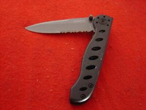 "Gerber Knives 3-3/4"" Linerlock Black Lock Half Serrated Blade Knife"