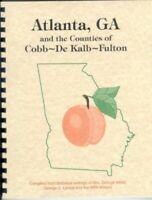 Cobb DeKalb Fulton Campbell County Georgia White's 1854 History + WPA Atlanta GA
