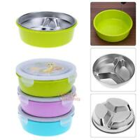 3 Grid Stainless Thermo Insulated Thermal Food Container Bento Round Lunch Box