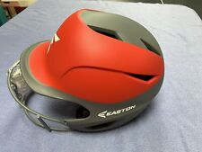 Easton Prowless Grip Small / Medium Two Tone  Softball Batting Helmet w Mask Red