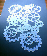 high detail airbrush stencil cogs five FREE UK POSTAGE
