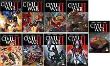 MARVEL CIVIL WAR II 0 1 2 3 4 5 6 7 8 COMPLETE REGULAR SET 1ST PT 2016 COMIC NM