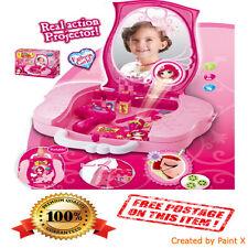 Children Dressing Table Kids Glamour Magic Mirror Makeup Princess Vanity GIFTSET