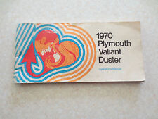 Original 1970 Plymouth Valiant Duster owner's manual