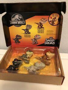 NEW Jurassic World Snap Squad - Wave 1 (Set of 4) Toys SEALED