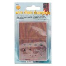 Beadsmith Wood Drawplate Draw Plate Block Woven Chain Viking Knit Wire Jewelry