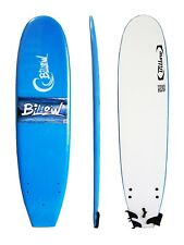 Billow 7ft Surfboard, Soft Board with Leash and fins,Sky Blue Soft Surf Board