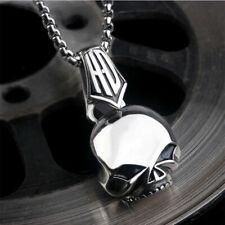 Colgante Harley Davidson Skull cadena de acero inoxidable macizo collar