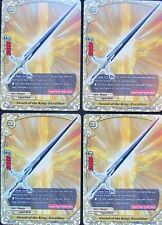 4x Sword of the King, Excalibur Buddyfight Promo - 4 MINT CARDS