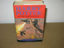 HARRY POTTER AND THE GOBLET OF FIRE UK FIRST EDITION. FIRST PRINT BOOK
