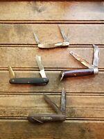 Lot of pocket Knives: AS IS / Victorinox, Holub, Ka-bar, Camillus
