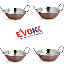 19 CM Balti Dish Copper Lacquered Serving Bowl Stainless Steel Pack of 4,8,12