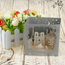 3d pop up handmade paris postcards laser cut vintage greeting love cards GD