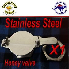 HONEY GATE VALVE, STAINLESS STEEL  BEEKEEPING TAP EASY FIT  BEE KEEPING  APIARY