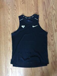 Nike x HeartBreakers DRI-FIT Miler SZ M Running Tank Black