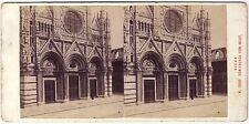 Sienne Siena Italie Photo Alois Beer stéréo Stereoview Vintage argentique