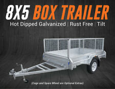 8x5 Trailer Hot Dipped Galvanized Box Trailer Fully Welded Tilt Brisbane Qld