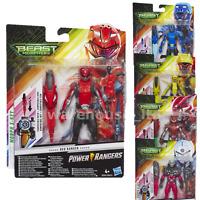 "Power Rangers Beast Morphers Basic 6""  Figure, red, Blue, Cybervillain, Evox"