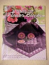 A Year of Flower Blocks, designs by Jodi Warner, 12 Beautiful Mini Quilts How to