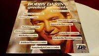 BOBBY DARIN - BOBBY DARIN'S GREATEST MOMENTS - ORIGINAL UK LP