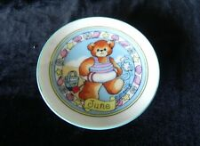 Enesco Lucy And Me June Bear Dish 1986 Lucy Rigg