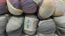 500gr. ALIZE-Wolle Baby WoolBatik:   Lila-Scwarz