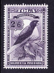 TONGA 1943 SG81 2/6 deep purple - parrot - unmounted mint. Catalogue £38