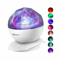 Aurora Night Light Projector Lights, Soaiy, 8 Changing Aurora and 360°Rotatab...