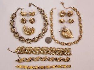 Vintage Crown Trifari Jewelry LOT Repair Repurpose Salvage Alfred Philippe