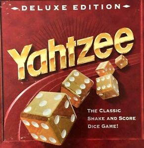 Yahtzee Deluxe Replacement Pieces Gold Dice, Score Pad, Cup, Tray, Felt You Pick