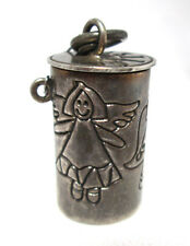 Wish Box Memorial Pendant Angel Designed container Sterling Silver