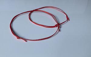 2 Friendship Red String set Kabbalah Handmade Bracelet Wish Promise gift promise