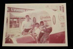Disneyland 1960s Family PHOTO Bob Gurr Carnation Ice Cream Truck Upjohn Pharmacy