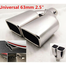 "Universal 63mm 2.5"" Stainless Steel Inlet Car Tail Rear Pipe Tip Muffler Cover"
