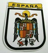 Souvenir-Aufkleber Espana Spanien Staatswappen schwarzer Adler 80er Oldtimer