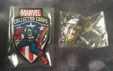 MARVEL COLLECTORS CORPS CAPTIAN AMERICA PATCH AND NICK FURY PIN NEW IN BAG