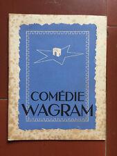 Programme THEATRE COMEDIE WAGRAM Le Don d'Adèle SUZANNE DANTES Marthe Mercadier*