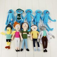 New Mr. Meeseeks Plush Toy Sanchez Smith Summer Jerry Happy Sad Scientist Toys