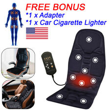 CUSHION BACK MASSAGE MASSAGER Heated Car Seat Chair Home Pad Pain Lumbar Neck