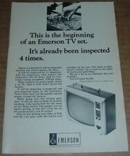 1966 EMERSON TELEVISION AD~19 INCH PORTABLE~INSPECTED OVER 50 TIMES FOR QUALTIY