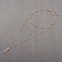 Simple Trendy Long Female Pendant Necklace Bisuteria Mujer Zinc Alloy Bijoux Gif