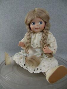 "14"" antique reproduction bisque head German Kestner Googly Eye artist Doll"