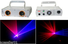 Double 2 Lens Stage Laser Light Projector Lazer Display Show Lighting DJ Disco