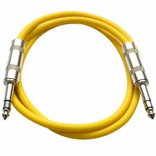 """Seismic Audio - Yellow 1/4"""" Trs 2' Patch Cable Effects"""