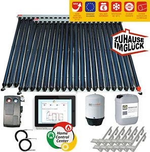 🔥 Sonnenkollektor Solaranlage Komplettset Röhrenkollektor Heatpipe Solarplatte