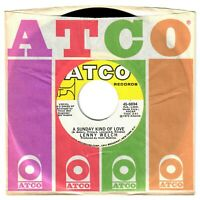Lenny Welch 1972 Atco 45rpm A Sunday Kind Of Love b/w I Wish You Could Know Me