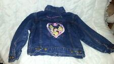 Disney Store Girl Princess Blue Jean Jacket Denim Youth Size Small Aurora Bell
