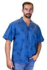 KY's Original Camisa Hawaiana Palmas Sombra Palmshadow Azul Claro
